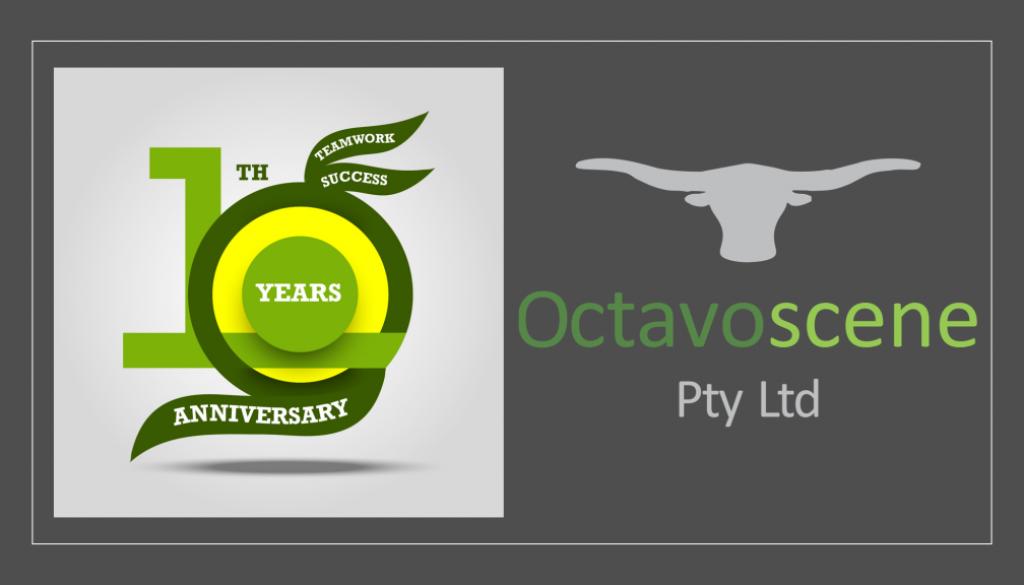 Octavoscene logo 10 Jaar